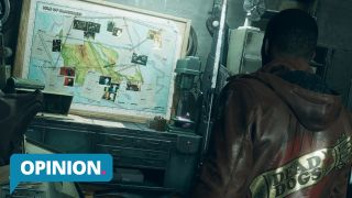 Deathloop Colt looking at map