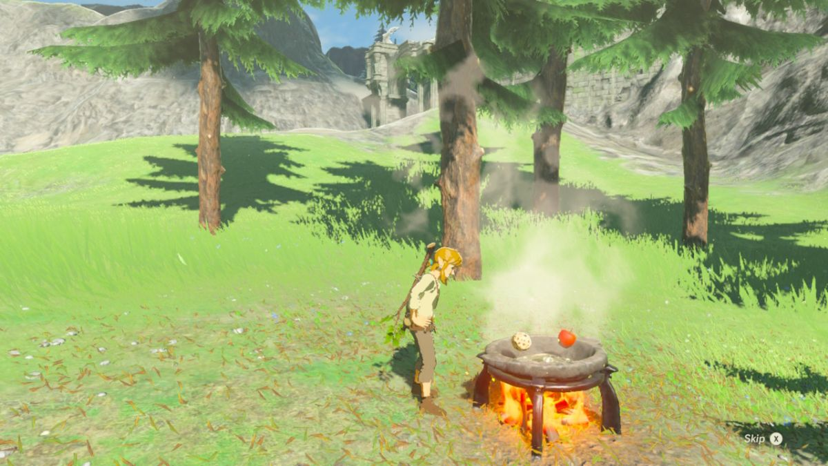 The Legend of Zelda: Breath of the Wild cooking recipes