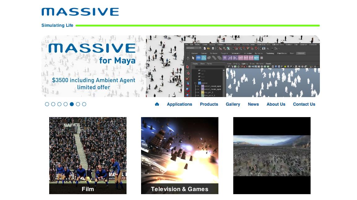 Massiva for Maya homepage
