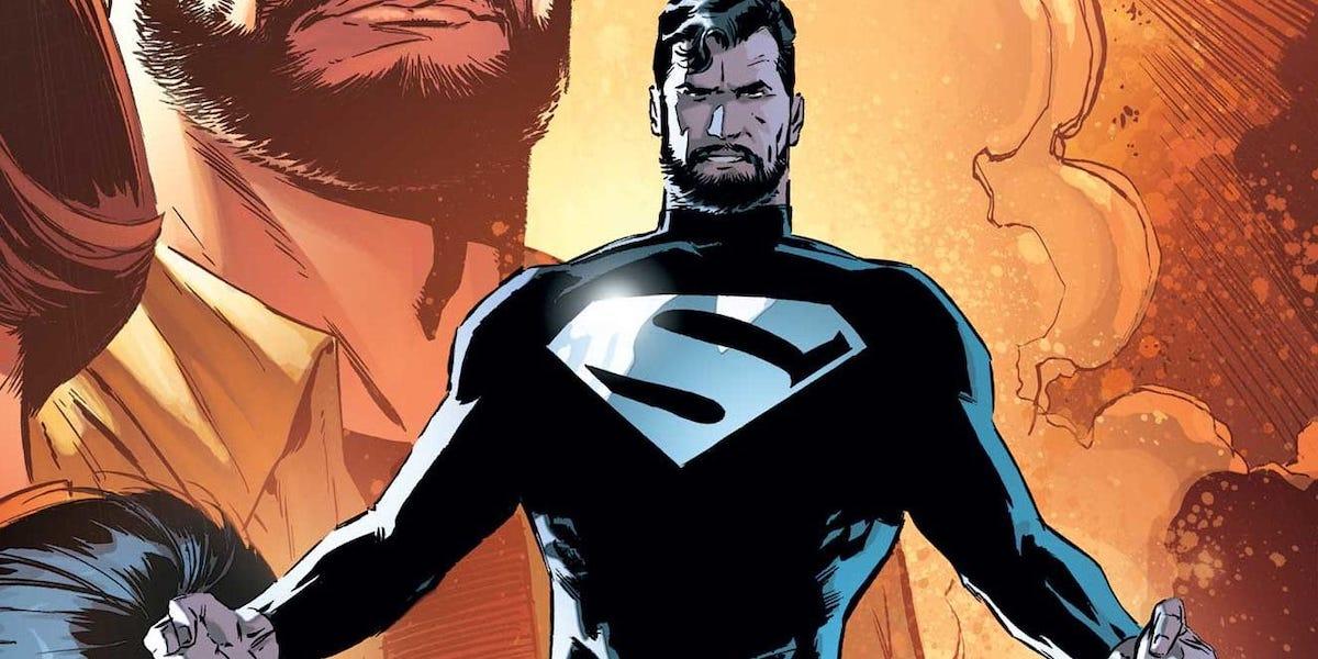Superman in Black Suit in DC Comics