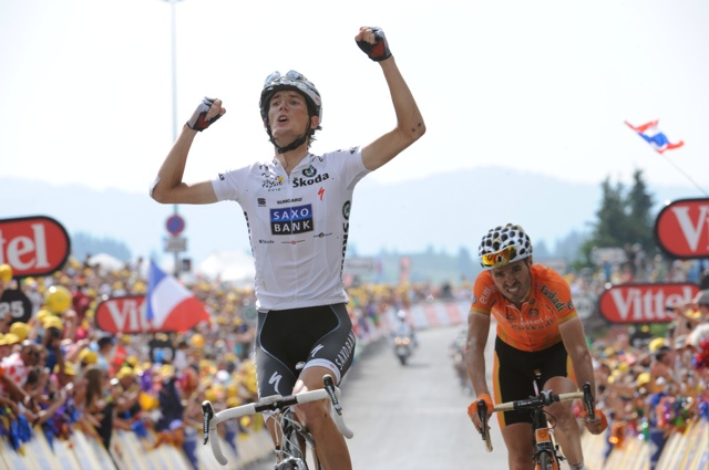 Andy Schleck wins, Tour de France 2010, stage 8