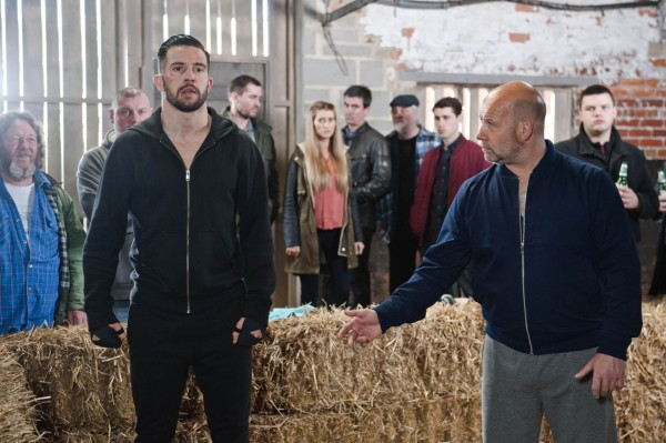 Michael Parr's Ross knuckles up for the action scenes (ITV/Amy Brammall)