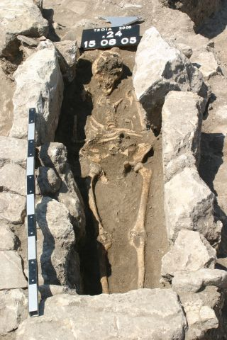 The first evidence of sepsis during pregnancy was found in this 800-year-old skeleton of a woman who lived on the outskirts of the ancient city of Troy in modern Turkey.