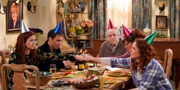 Grace with her family on Will and Grace