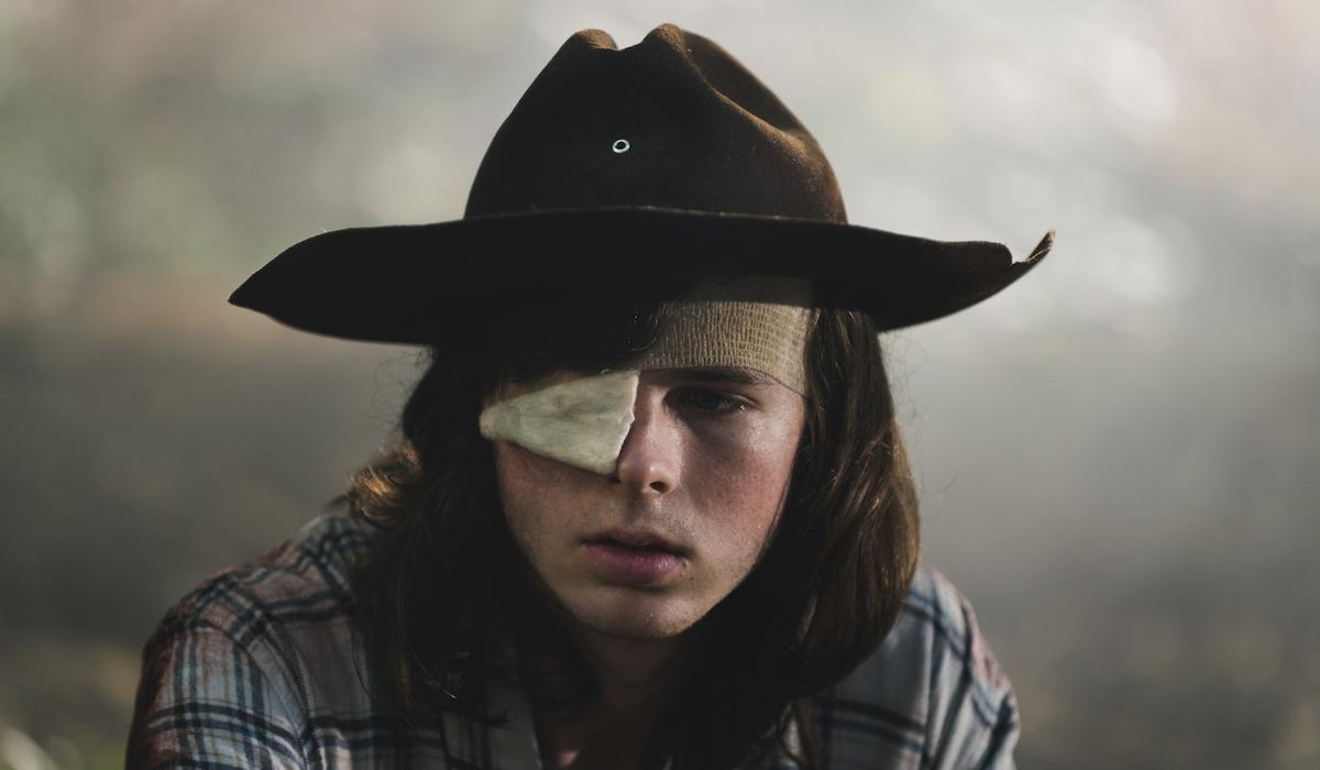 carl the walking dead final episode eyepatch