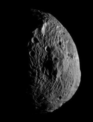 NASA's Dawn spacecraft obtained this image with its framing camera on July 18, 2011. It was taken from a distance of about 6,500 miles (10,500 kilometers) away from the protoplanet Vesta.