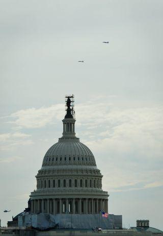 T-38 Aircraft Fly Over Washington