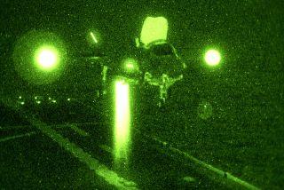 f-35b vertical night landing at sea