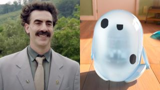 Borat and Ron from Ron's Gone Wrong