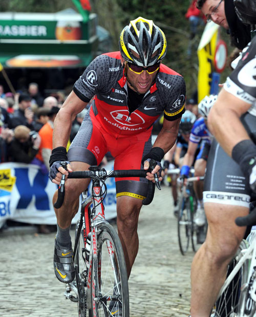 Lance Armstrong, Tour of Flanders 2010