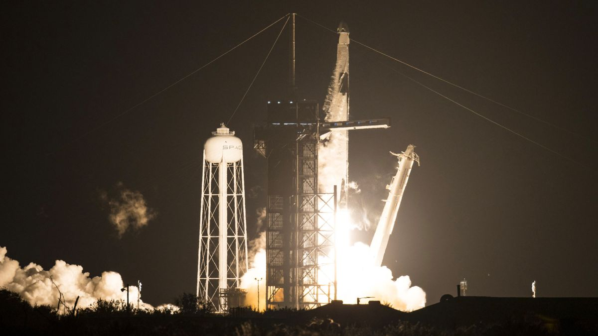 SpaceX Crew Dragon launches 4 astronauts to space station in historic flight
