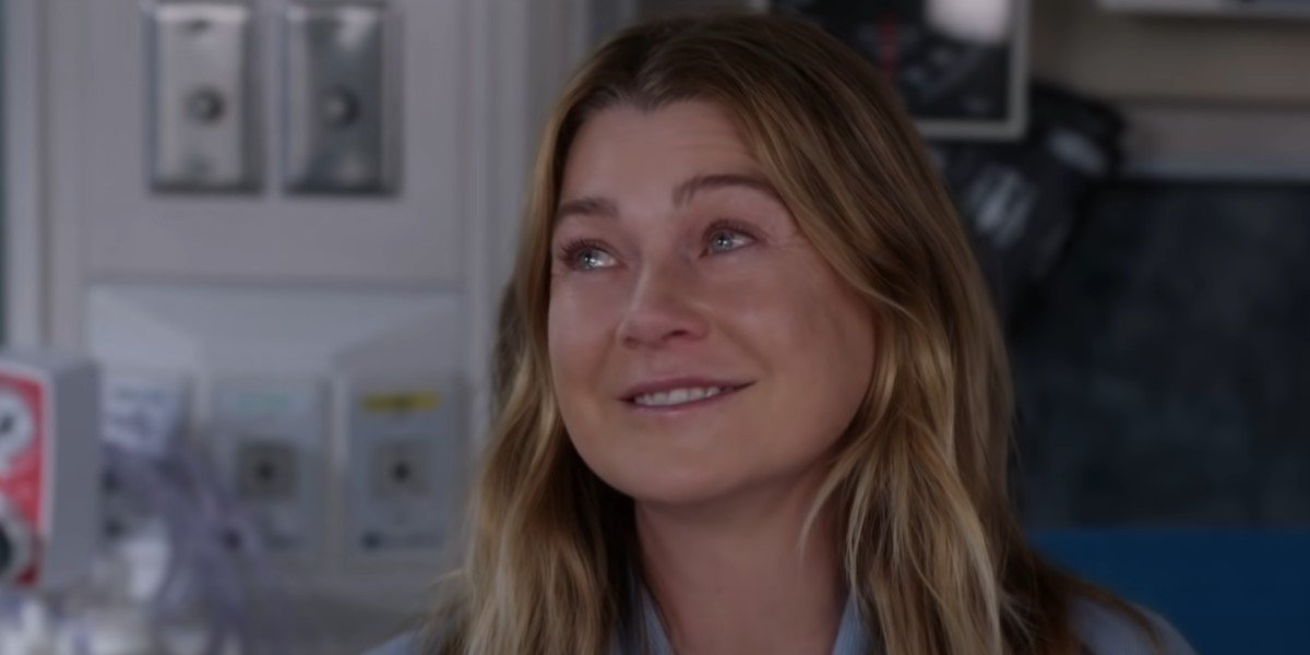 meredith grey smiling and talking to jackson grey's anatomy