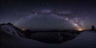 Milky Way Over Crater Lake Panorama