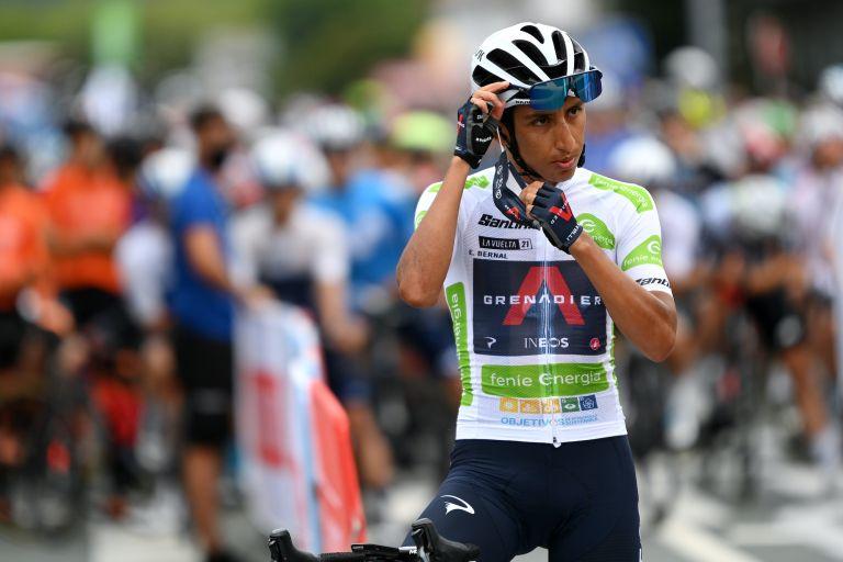 Egan Bernal at the 2021 Vuelta a España