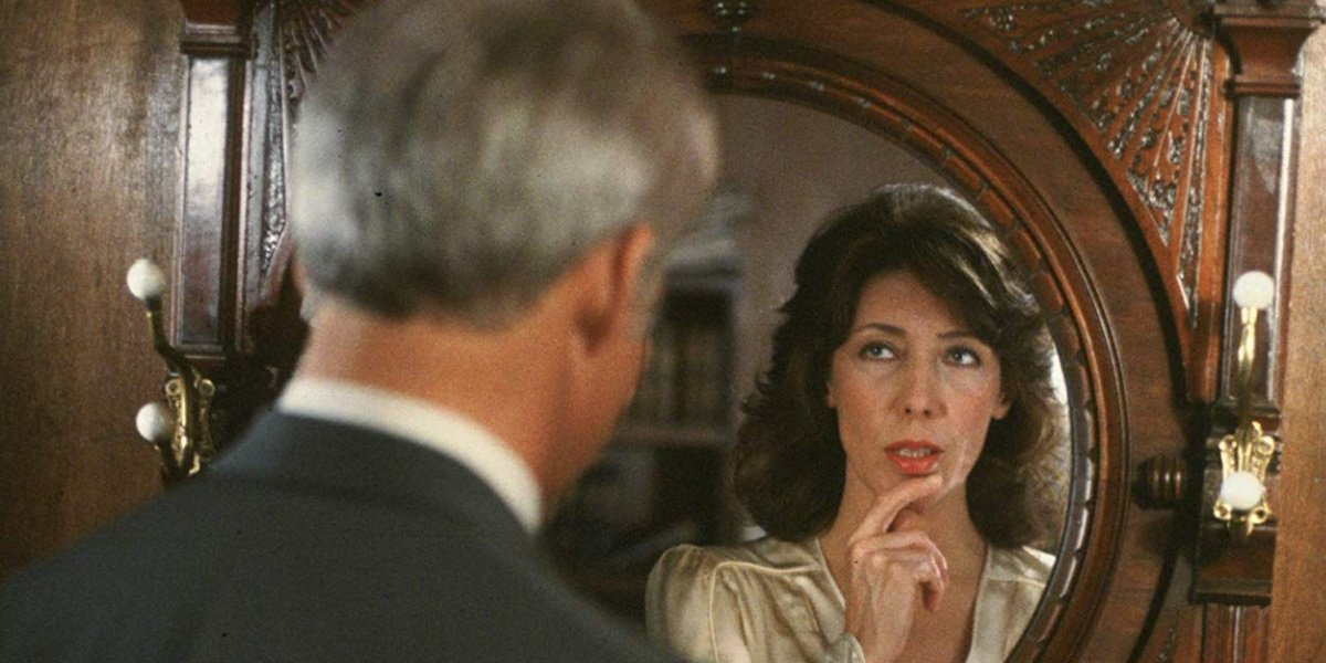 Steve Martin with Lily Tomlin's reflection in All of Me.