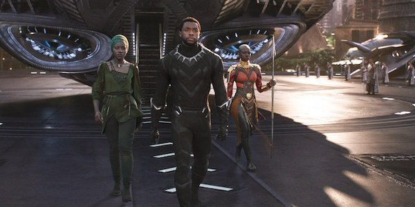 Black Panther arriving home in Wakanda