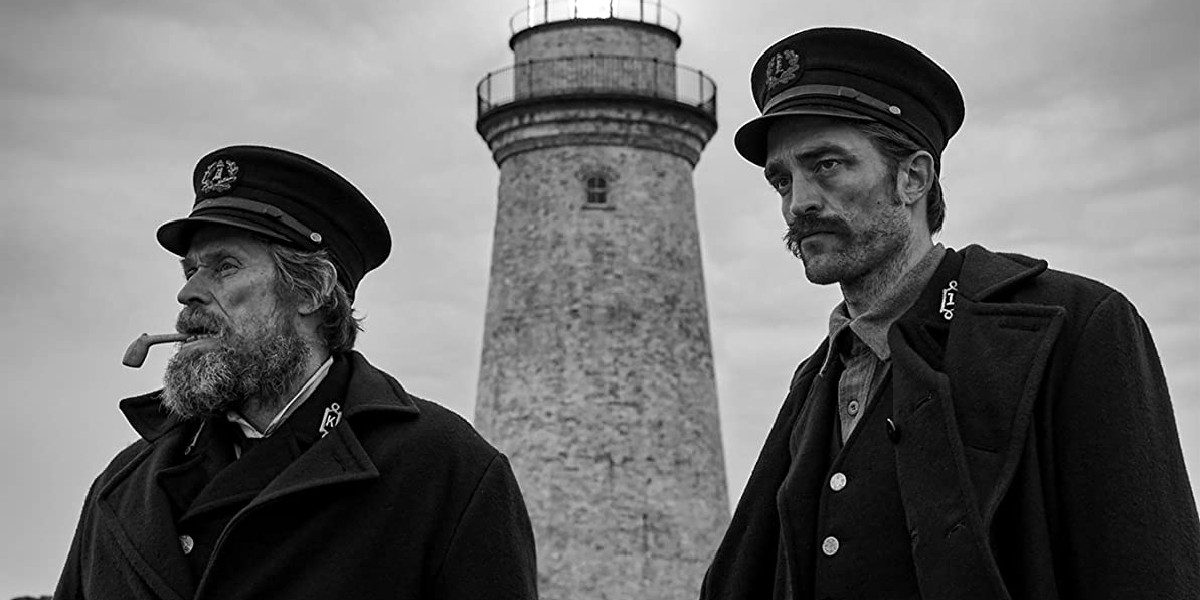Willem Dafoe and Robert Pattinson in The Lighthouse