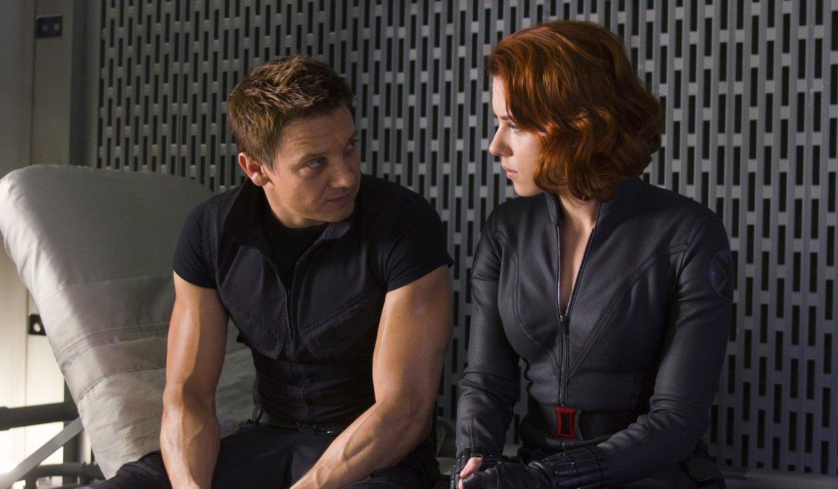 Hawkeye and Black Widow in 2012's Avengers
