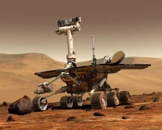 Mars rover Opportunity illustration