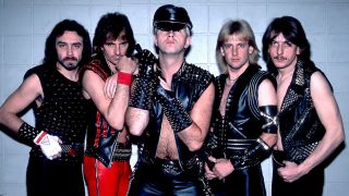 Holland, far right, with Judas Priest in 1984