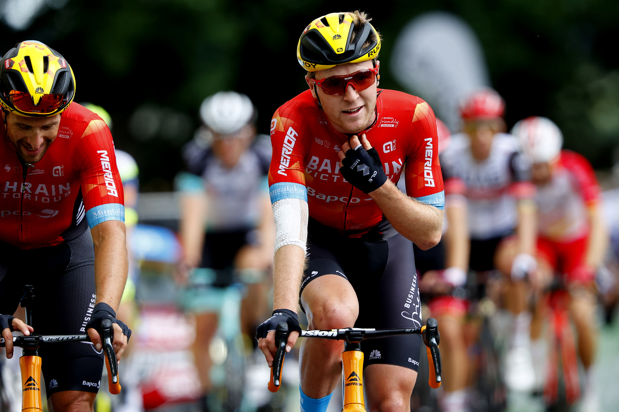 Tour de France 2021 108th Edition 4th stage Redon Fougeres 1504 km 29062021 Fred Wright GBR Bahrain Victorious photo Luca BettiniBettiniPhoto2021