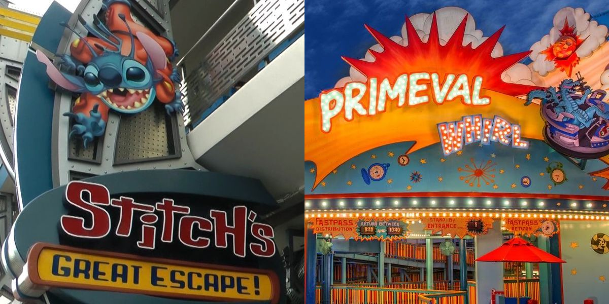 Primeval Whirl and Stitch's Great Escape before 2020 shutdown, photo courtesy of Disney