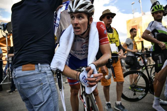 Arnaud Demare (Groupama-FDJ) made the time cut on Alpe d'Huez
