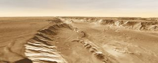 Melas Chasma, part of Valles Marineris on the surface of Mars
