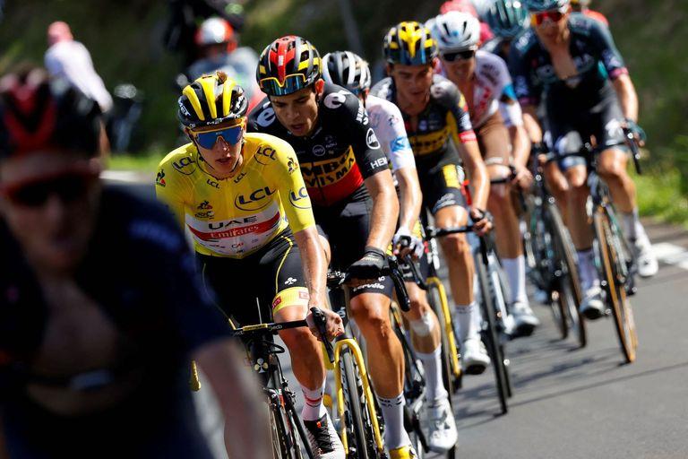 Tadej Pogacar at the 2021 Tour de France