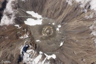 Kilimanjaro rift from space