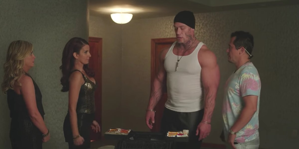John Cena doesn't stand out in this scene from Sisters