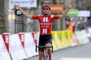 Sunweb's Tiesj Benoot wins stage 6 of the 2020 Paris-Nice in Apt, France