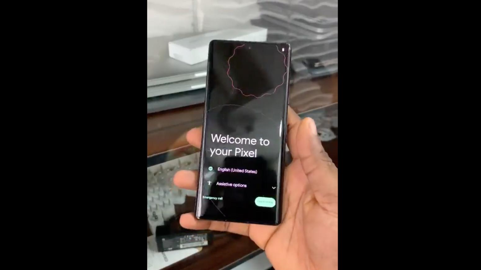 Google Pixel 6 Pro in user's hand
