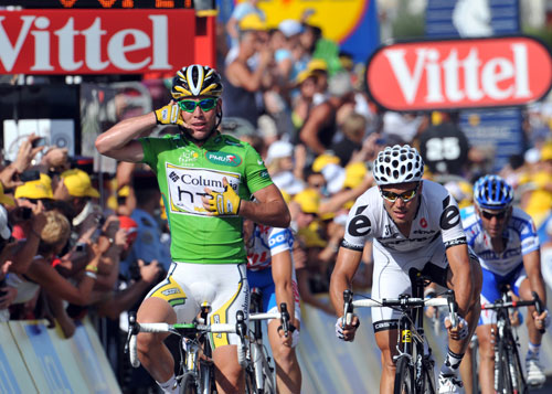 Mark Cavendish, Tour de France 2009, stage 3