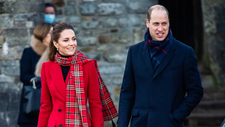 Prince William and Catherine, Duchess of Cambridge visit to Cardiff Castle on December 08, 2020 in Cardiff, Wales