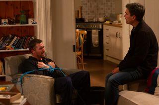Emmerdale spoilers! Cain Dingle attacks Pete thinking he's Moira's lover