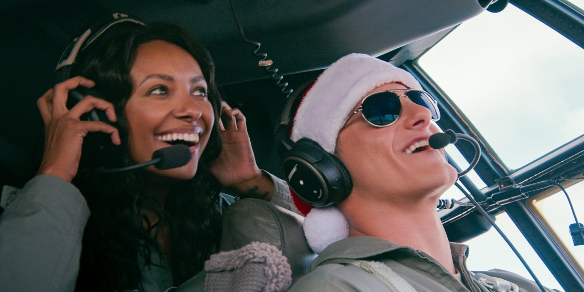 Kat Graham and Alexander Ludwig in Operation Christmas Drop