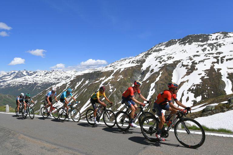 Riders at the 2019 Tour de Suisse