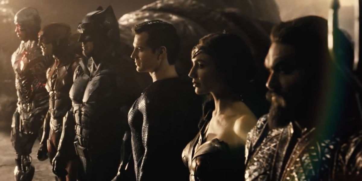 The Justice League in Zack Snyder's cut