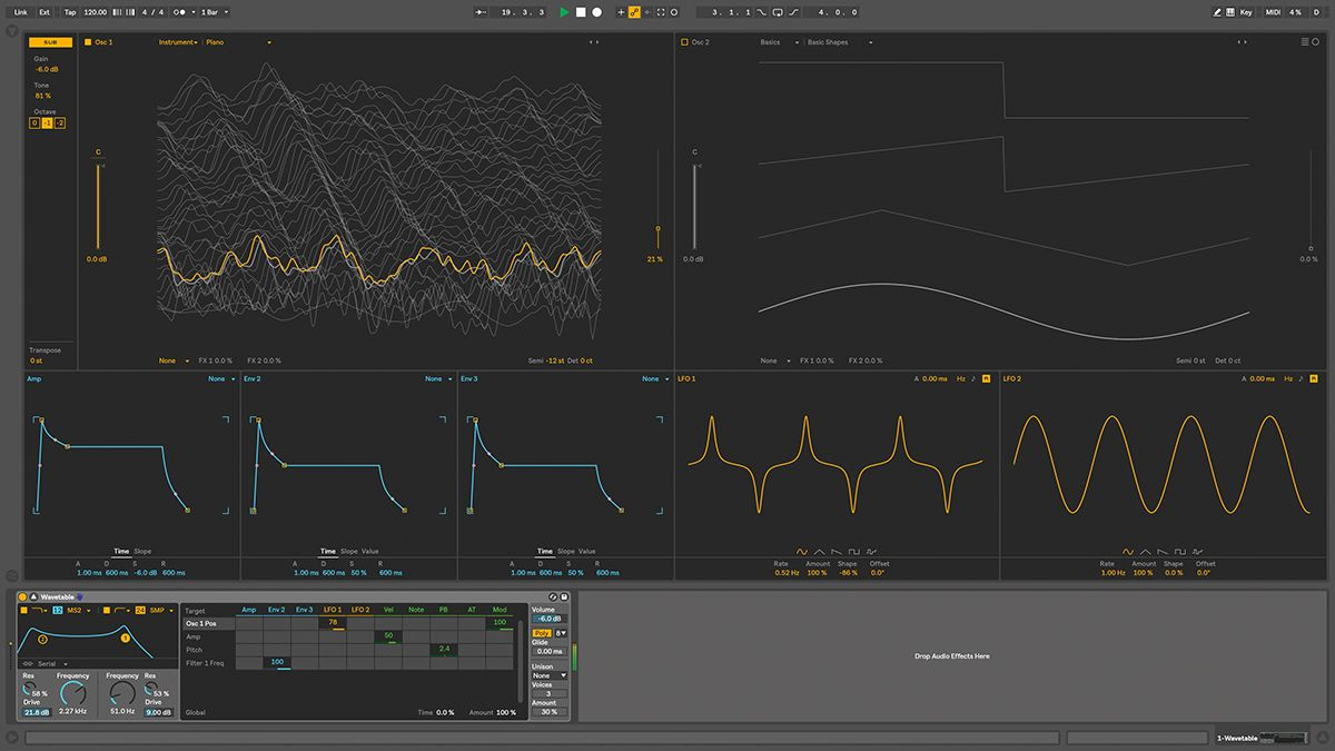 how to use ableton live 10 39 s wavetable synth musicradar. Black Bedroom Furniture Sets. Home Design Ideas