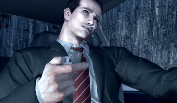 Agent Morgan lights a smoke in Deadly Premonition