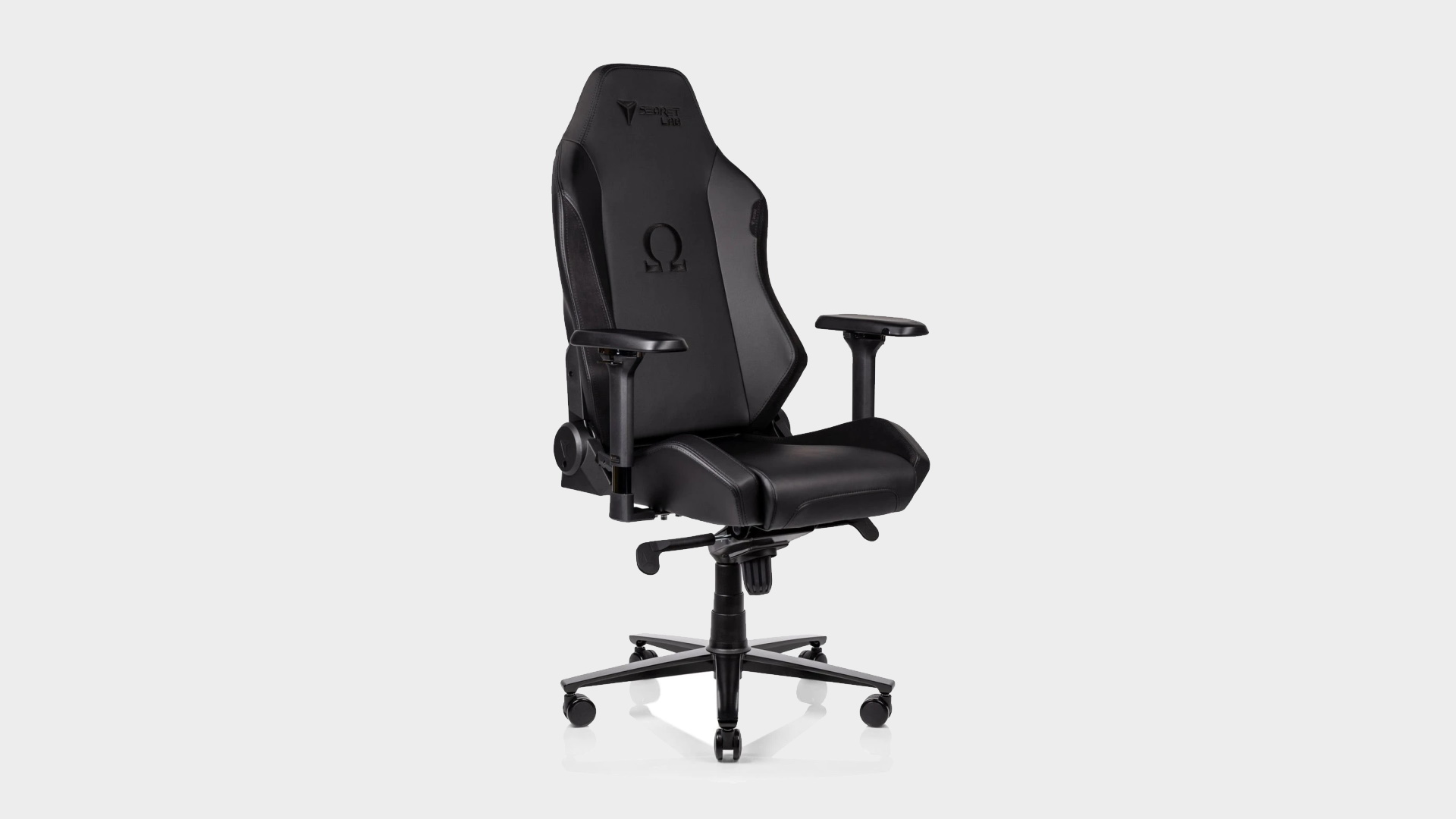 Secretlab OMEGA 2020 Series gaming chair on a grey background.