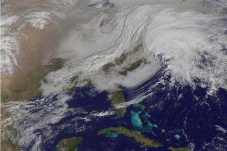 storm from space, satellite storm photo, nor'easter from space, satellite nor'easter photo