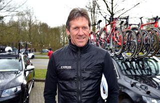 1988 Paris-Roubaix winner Dirk Demol is now a directeur sportif with Trek-Segafredo