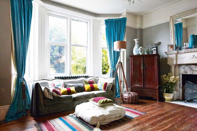 living room in victorian property in brighton