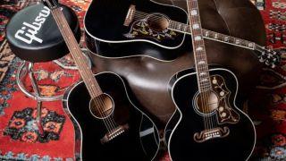 Gibson Ebony J-45 Standard, Ebony Hummingbird Standard, and Ebony J-200 Standard