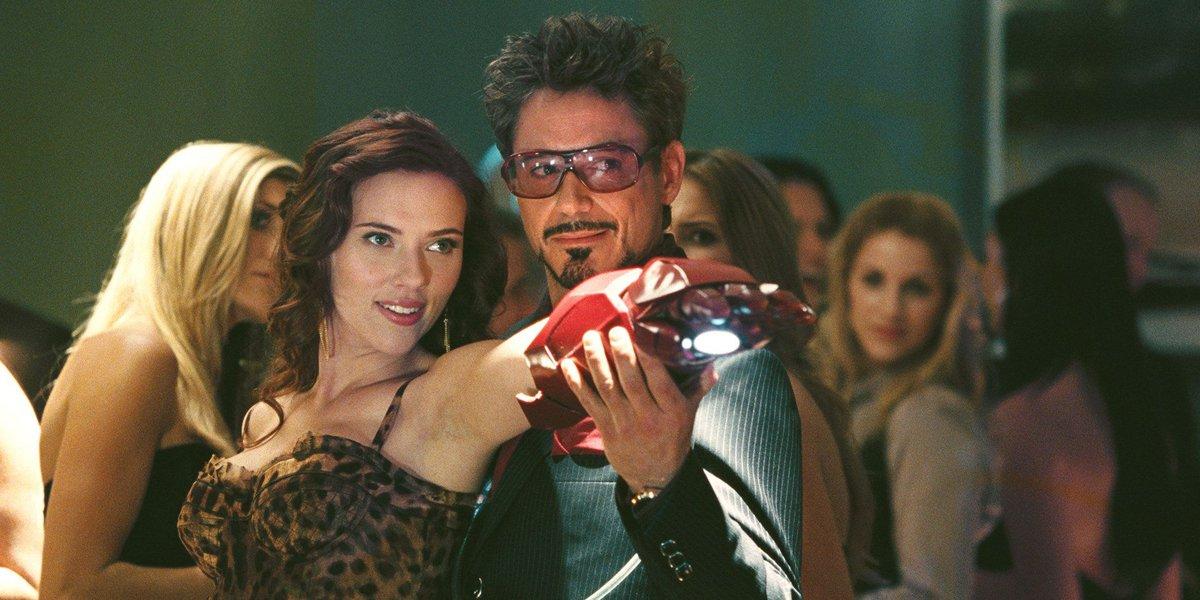Tony Stark and Black Widow in Iron Man