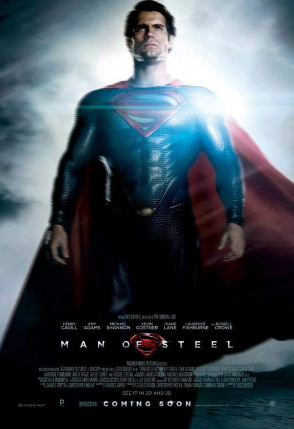 Superman character poster