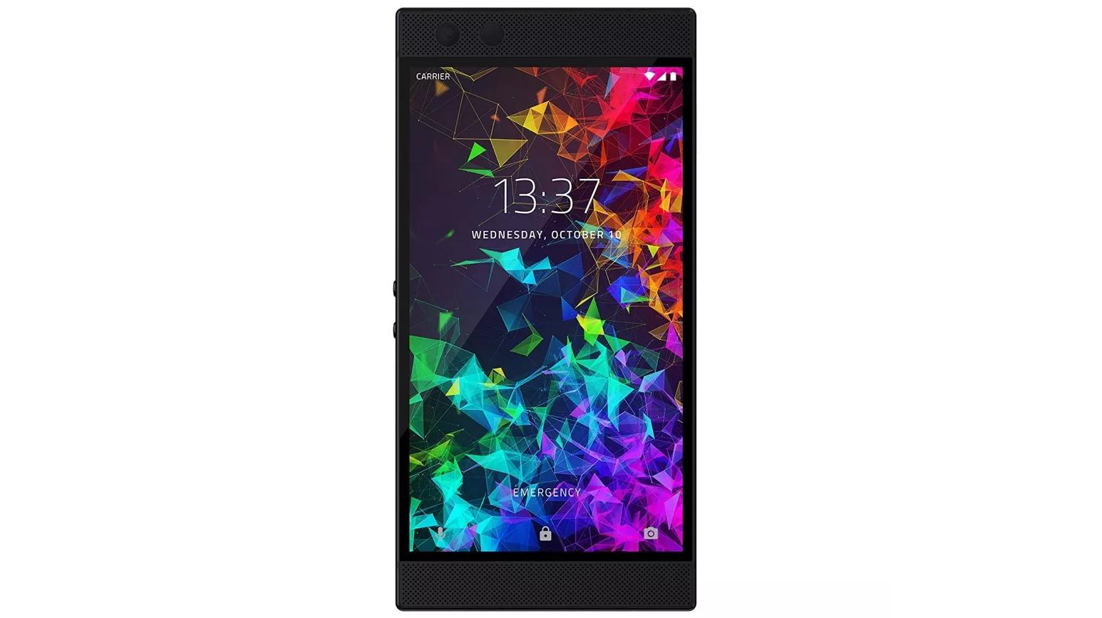 A Razer Phone 2 against a white background