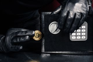 Bitcoin removed from a safe